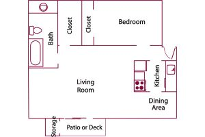 Heather Apartments floor plan
