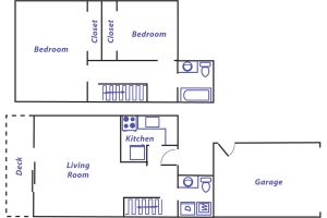 Lockhaven 2 bed floor plan