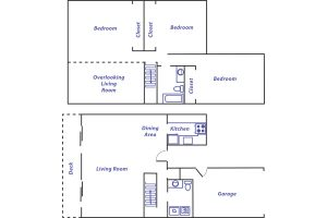 Lockhaven 3 bed floor plan