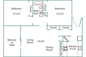 pine crest 2 bed floor plan