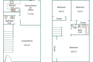 pine crest 3 bed floor plan