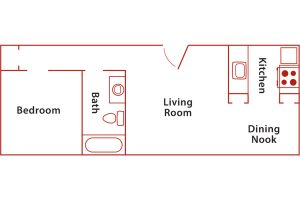 santa barbara 1 bed floor plan
