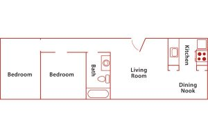 santa barbara 2 bed floor plan