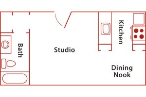 santa barbara studio floor plan