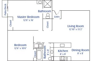 south pointe 2 bed 2 floor plan