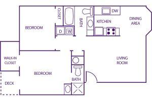 sunnyview 2 bed floor plan