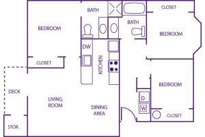 sunnyview 3 bed floor plan