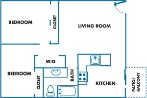 Willamette Landing 2 bed 1 bath