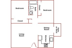Windsor Court 2 bed 1 bath