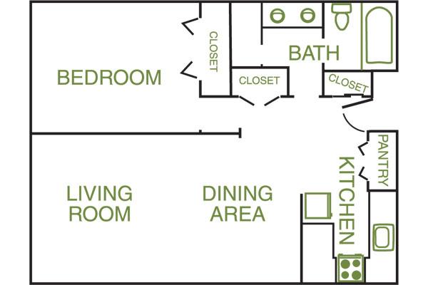 Windsor Island 1 bed 1 bath