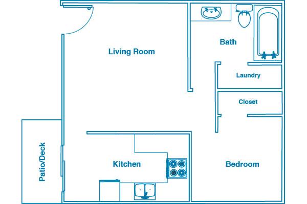 Woodside Estates 1 bed 1 bath