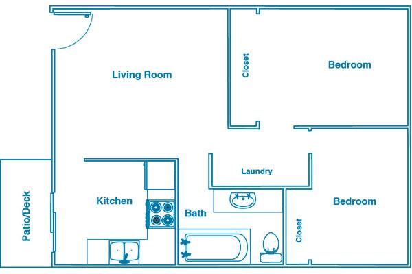 Woodside Estates 2 bed 1 bath