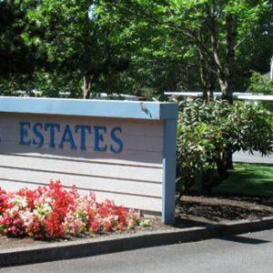 Woodside Estates Entrance